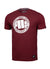 T-Shirt Chest Logo Burgundy - pitbullwestcoast