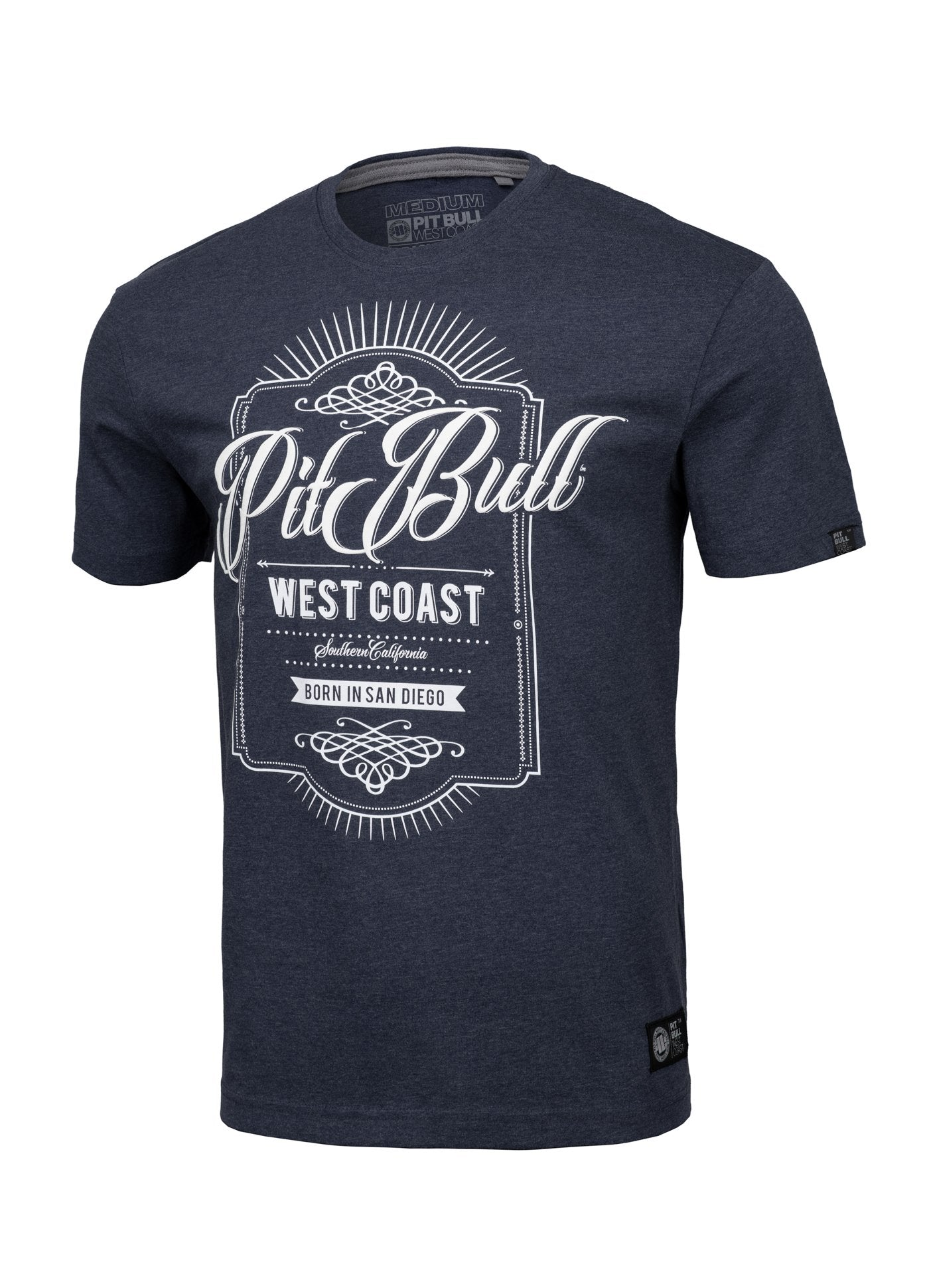 T-Shirt BEER Navy Melange - pitbullwestcoast