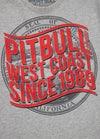 T-shirt CALIFORNIA DOG Grey Melange - pitbullwestcoast
