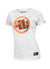 Women's T-shirt ORANGE DOG White - pitbullwestcoast