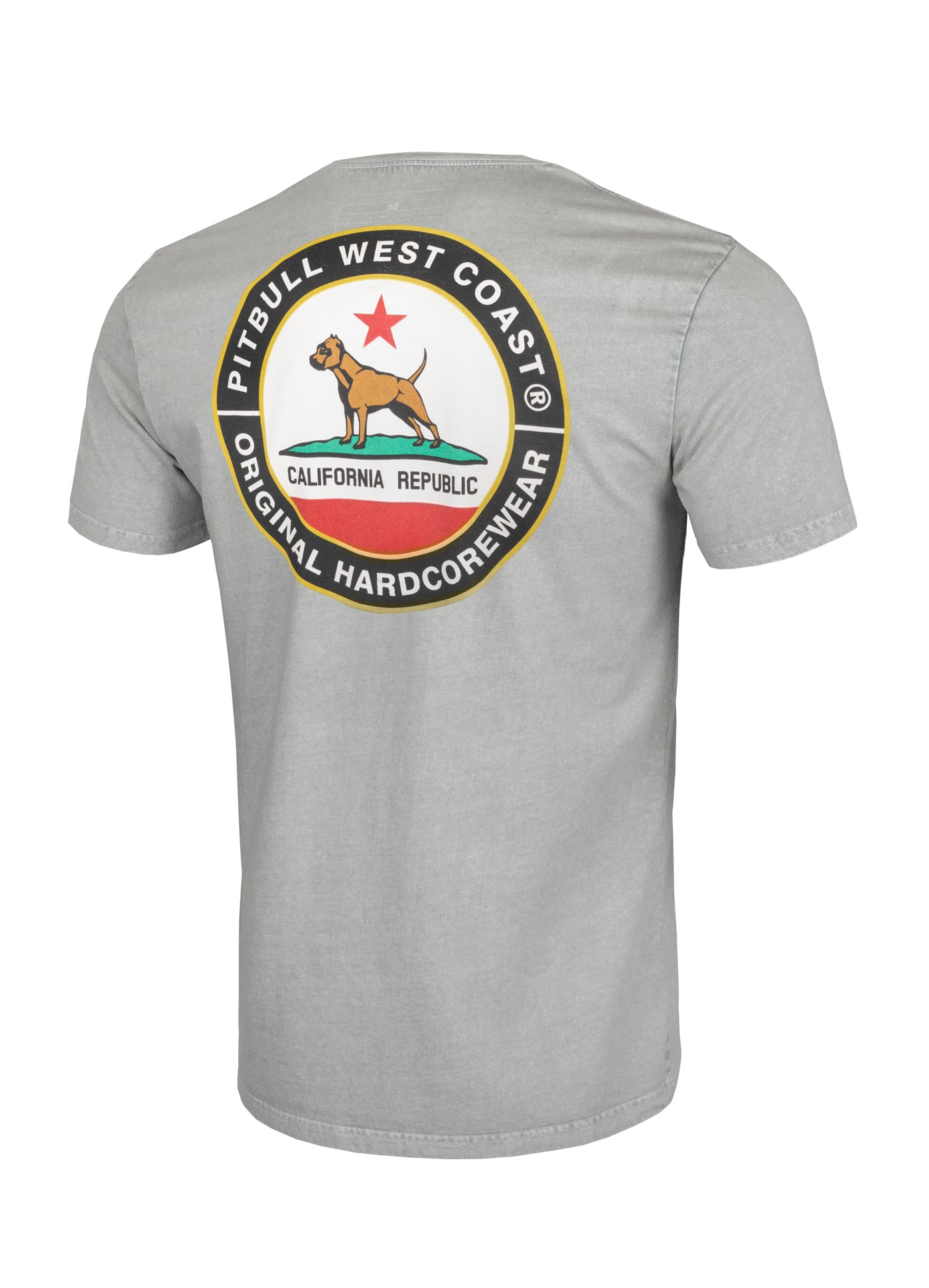 T-shirt Middleweight CALIFORNIA DOG Grey - Pitbull West Coast  UK Store