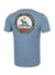 T-shirt Middleweight CALIFORNIA DOG Light Blue - Pitbull West Coast  UK Store