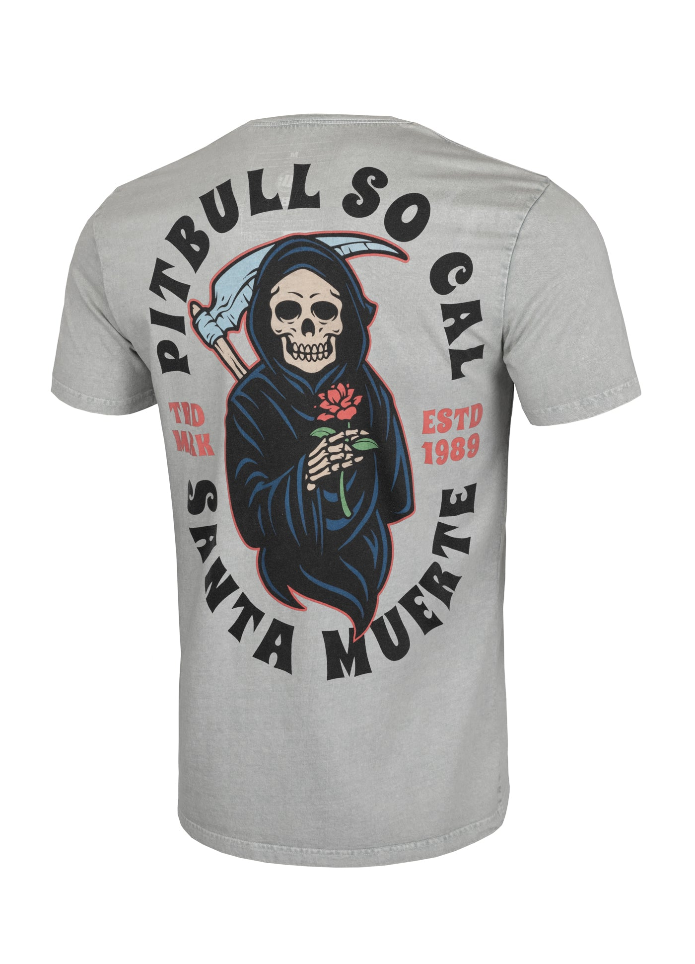 T-shirt Middleweight SANTA MUERTE Grey - Pitbull West Coast  UK Store
