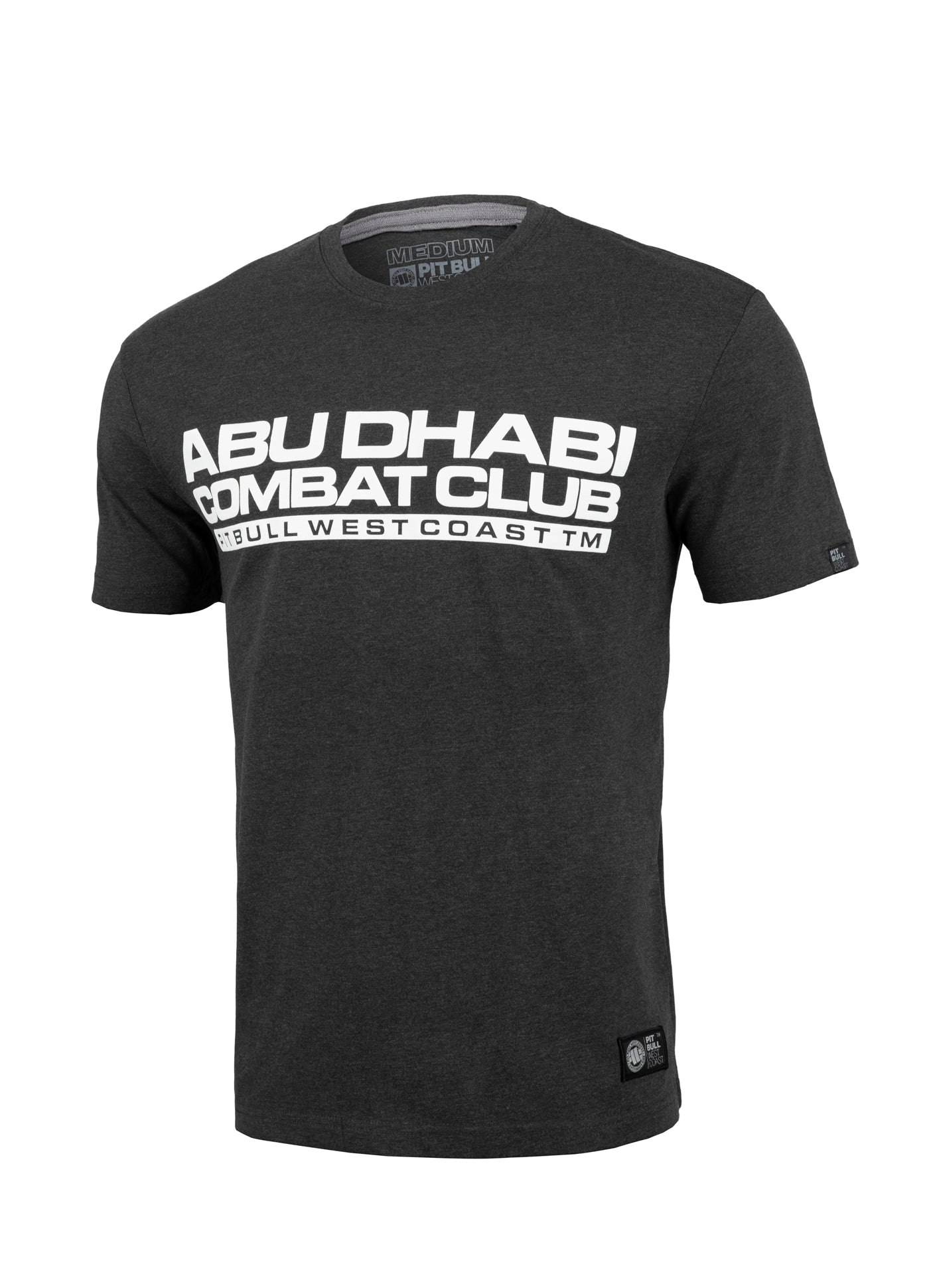 ADCC Abu Dhabi Combat Club T-shirt in charcoal mlg.