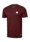 T-Shirt SMALL LOGO Burgundy - pitbullwestcoast