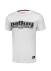 T-shirt Slim Fit Boxing White - pitbullwestcoast