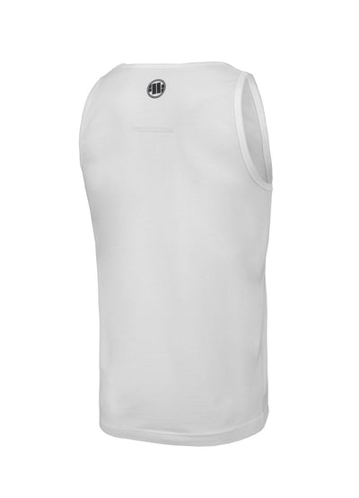 Tank Top Slim Fit Cal Flag White