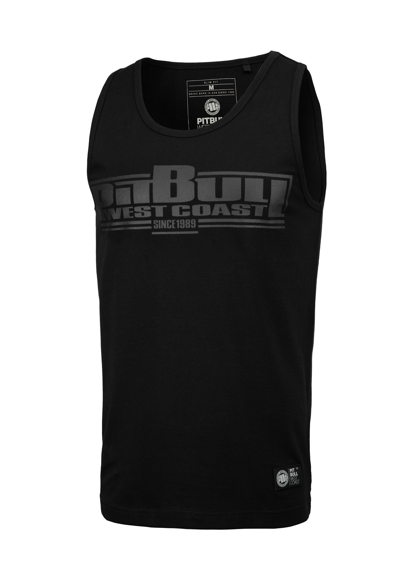 Tank Top Slim Fit Boxing Black - pitbullwestcoast