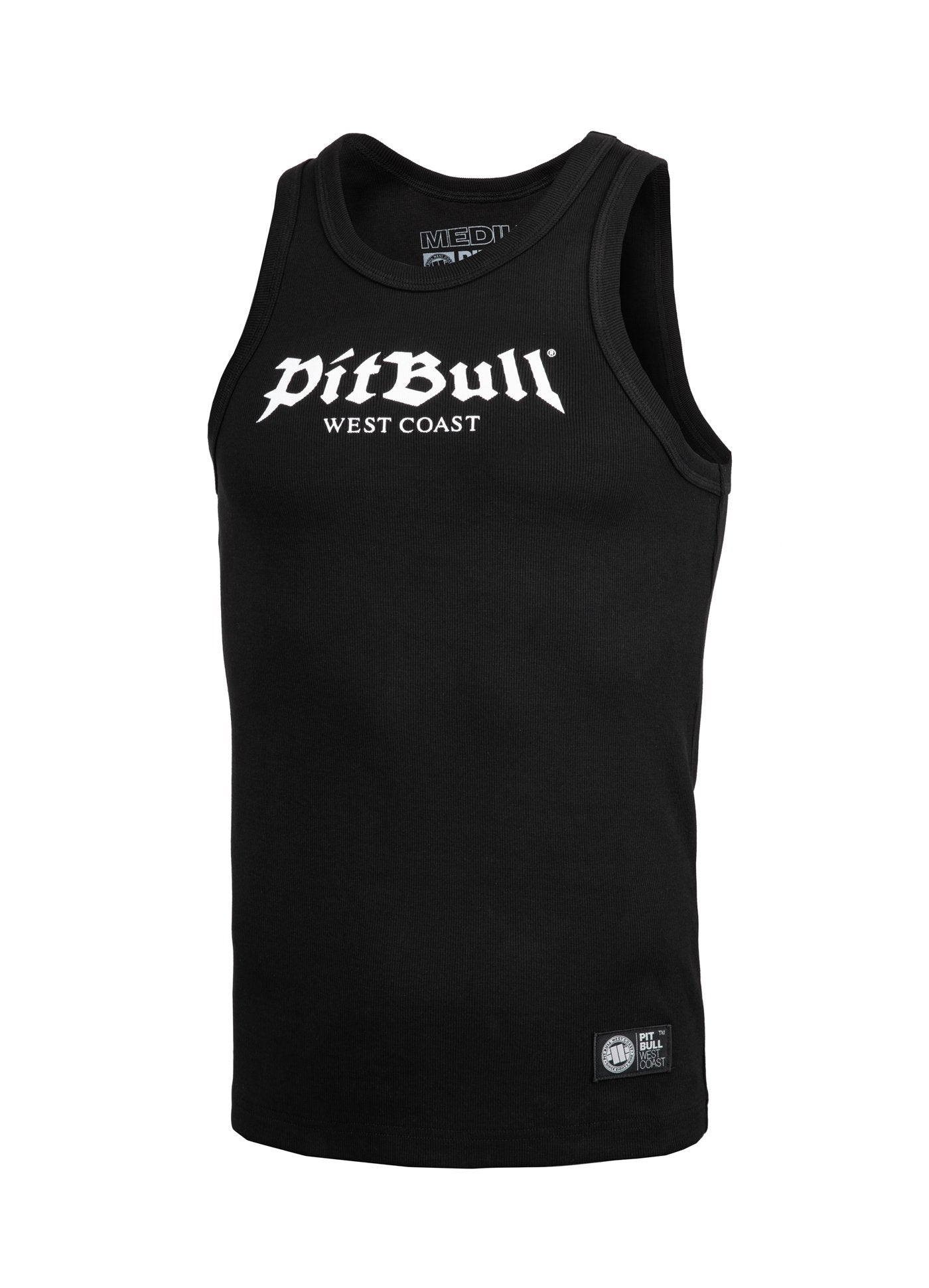 Rib Tank Top Old Logo Black - pitbullwestcoast