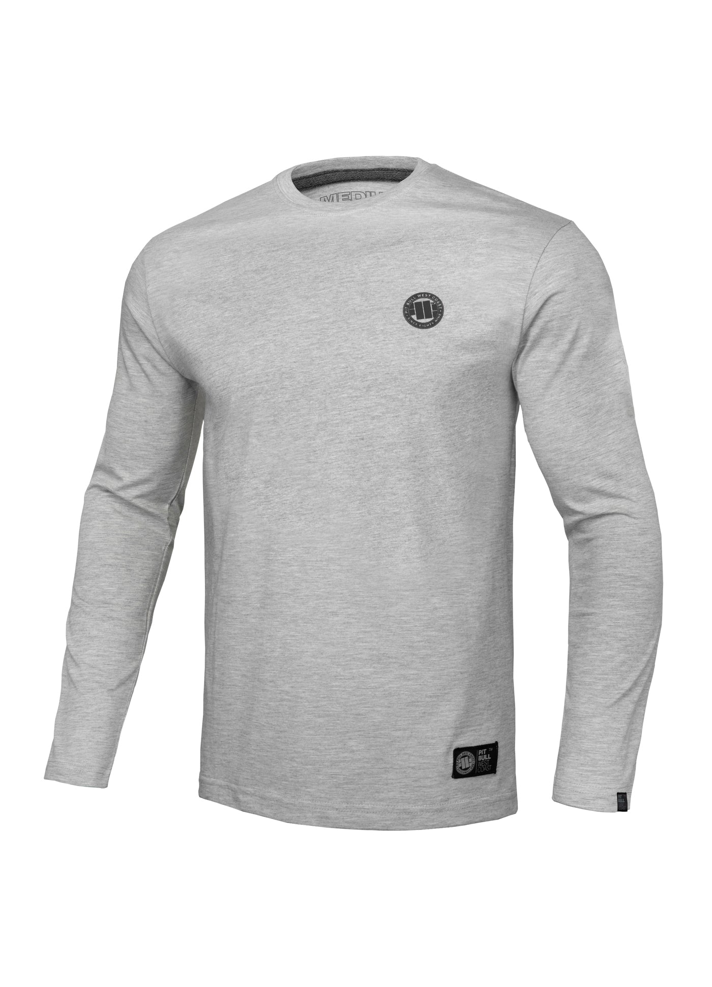 Longsleeve SMALL LOGO Grey - pitbullwestcoast
