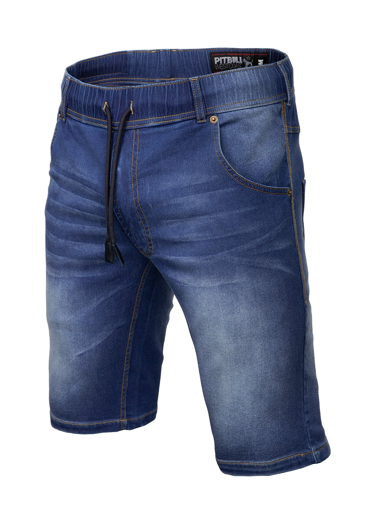 Denim Shorts BENNET Dark Navy - pitbullwestcoast