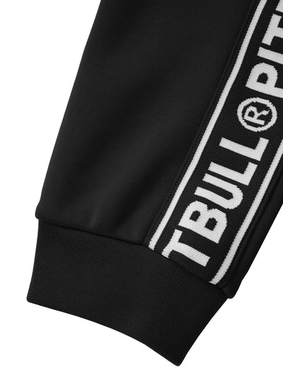 TRACK PANTS OLDSCHOOL TAPE LOGO BLACK