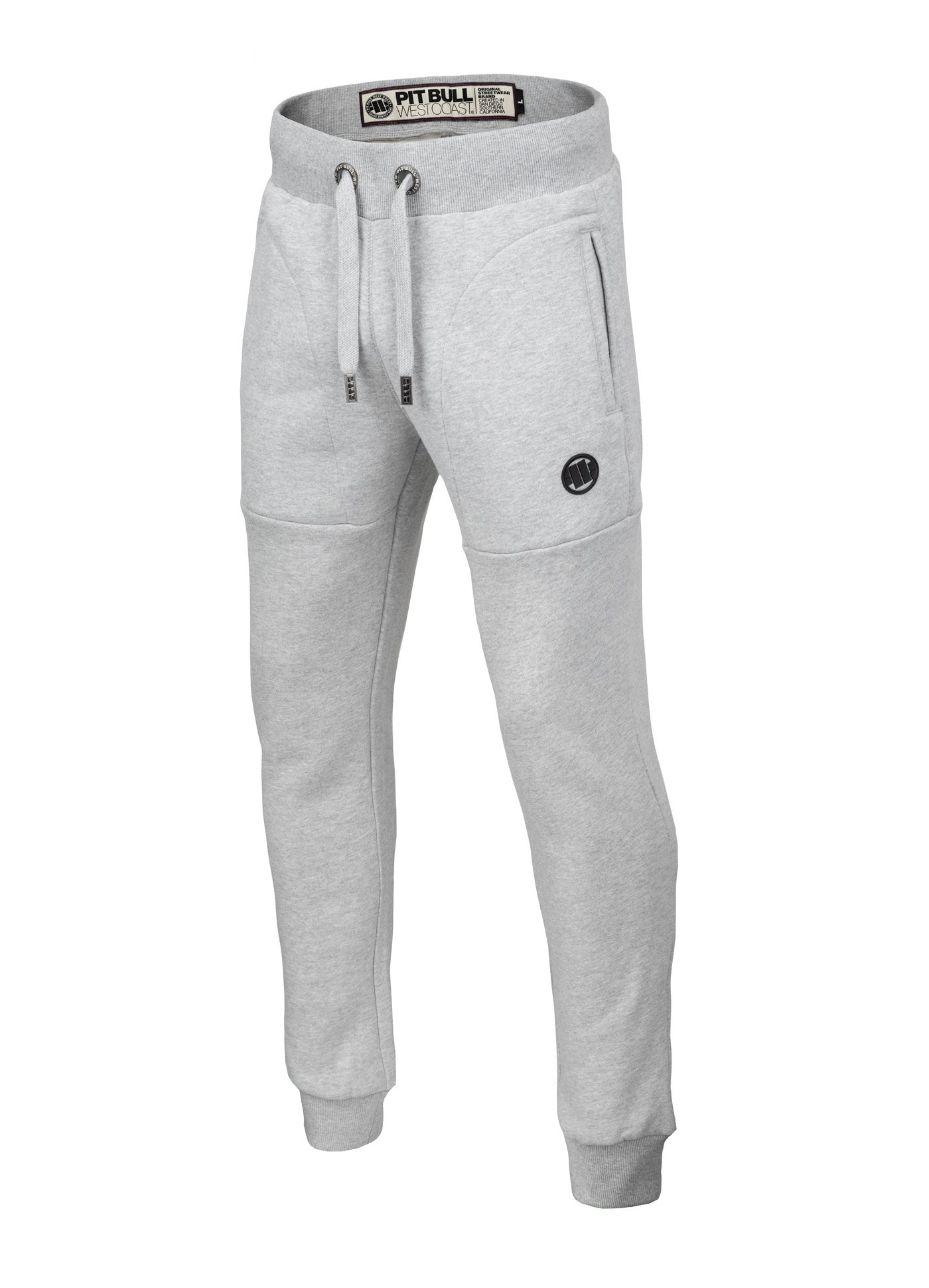 TRACK PANTS SMALL LOGO GREY MLG - pitbullwestcoast