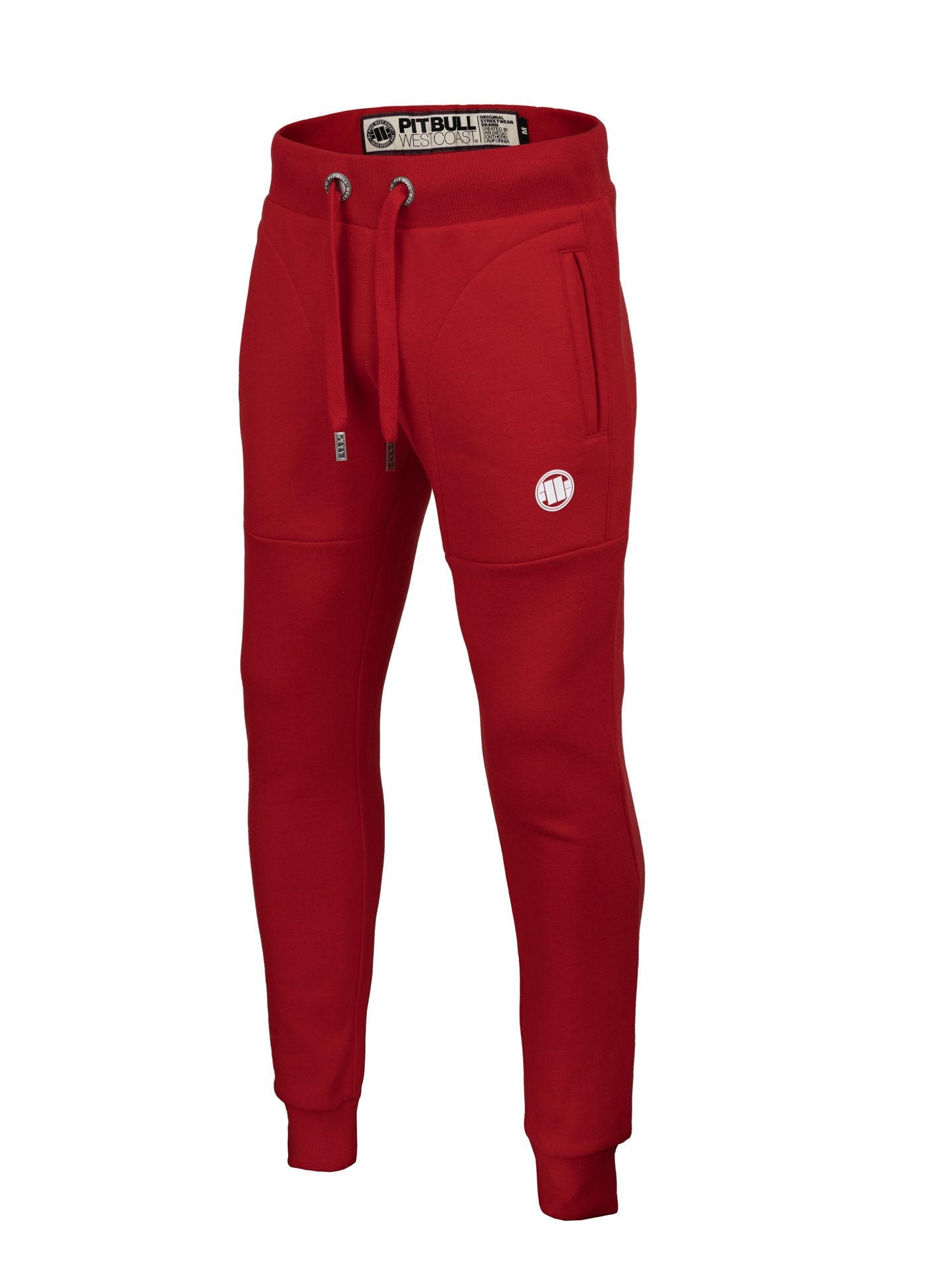 TRACK PANTS SMALL LOGO RED - pitbullwestcoast