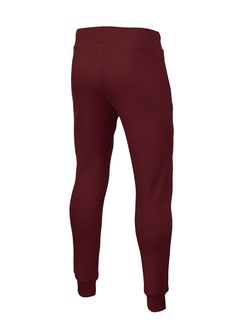 TRACK PANTS SMALL LOGO BURGUNDY - pitbullwestcoast