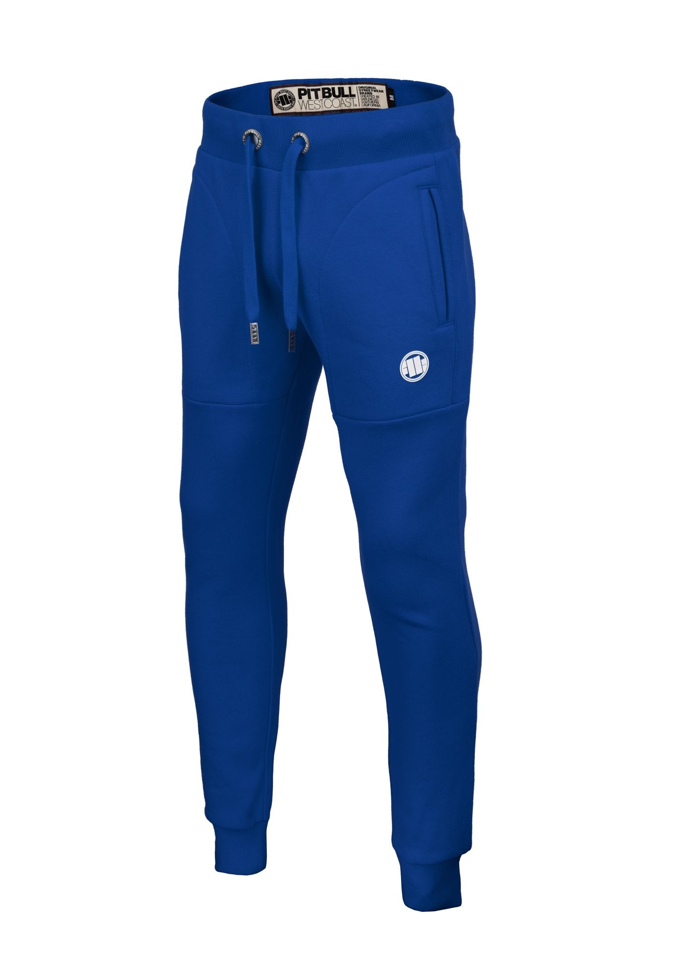 TRACK PANTS SMALL LOGO ROYAL BLUE - pitbullwestcoast