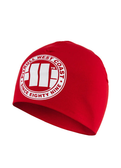 BIG LOGO COMPRESSION BEANIE RED