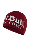 OLD LOGO COMPRESSION BEANIE BURGUNDY - pitbullwestcoast
