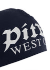 OLD LOGO COMPRESSION BEANIE DARK NAVY - pitbullwestcoast