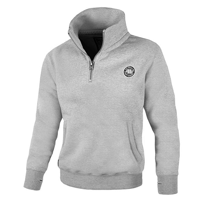 Half Zip Small Logo Sweatjacket Grey - Pitbull West Coast  UK Store