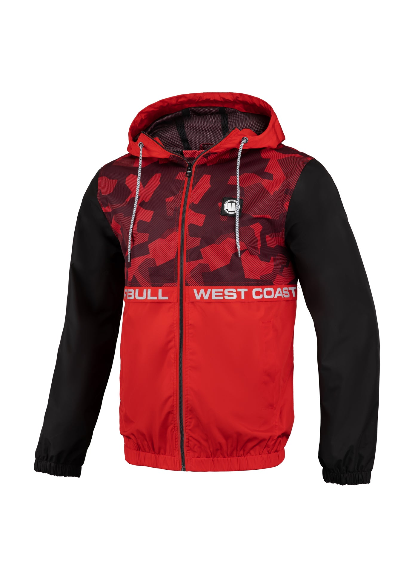 SHERWOOD Thick Hooded Nylon Jacket Red/Camo - pitbullwestcoast