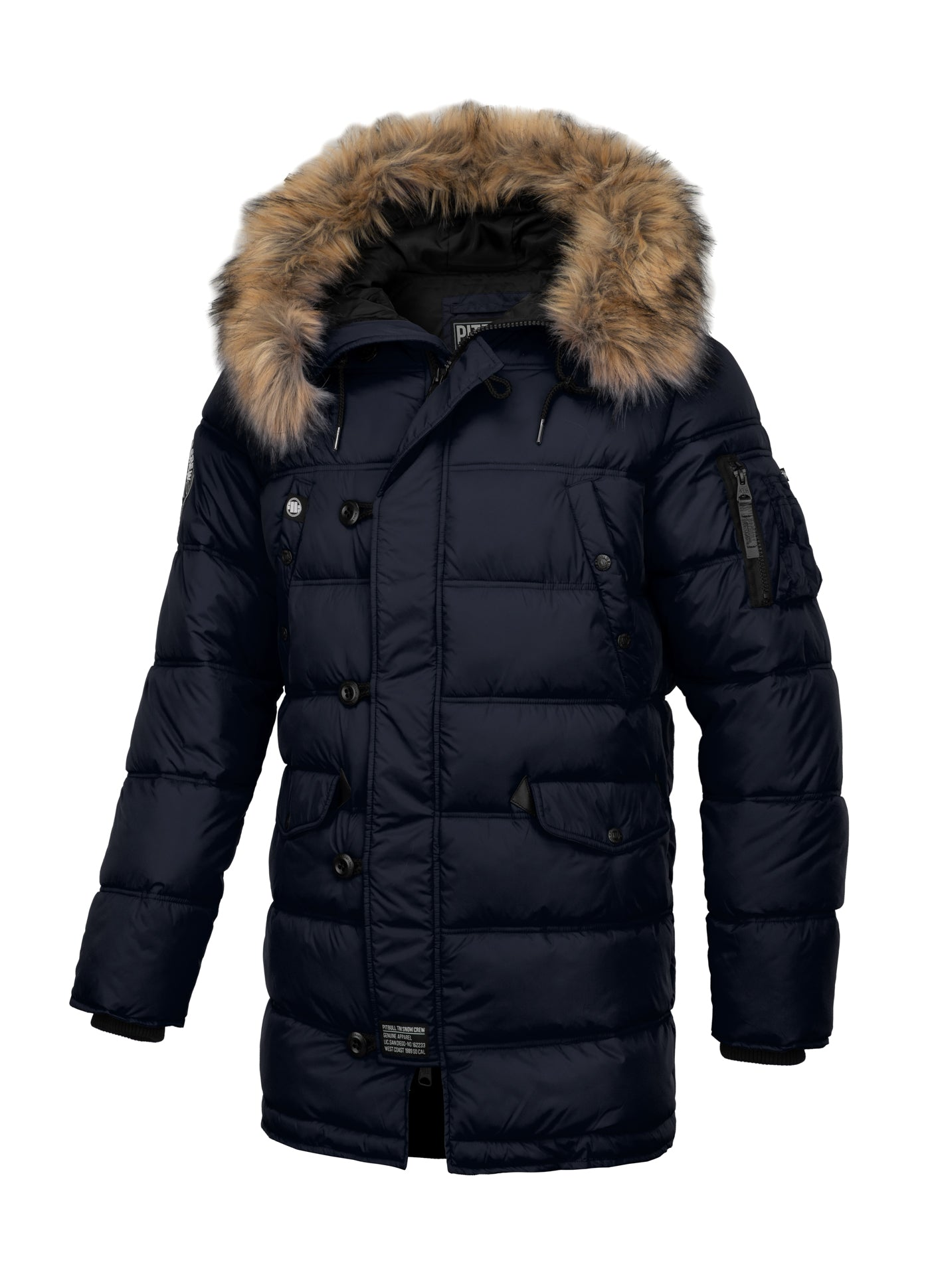 Parka Jacket KINGSTON Dark Navy - Pitbull West Coast  UK Store