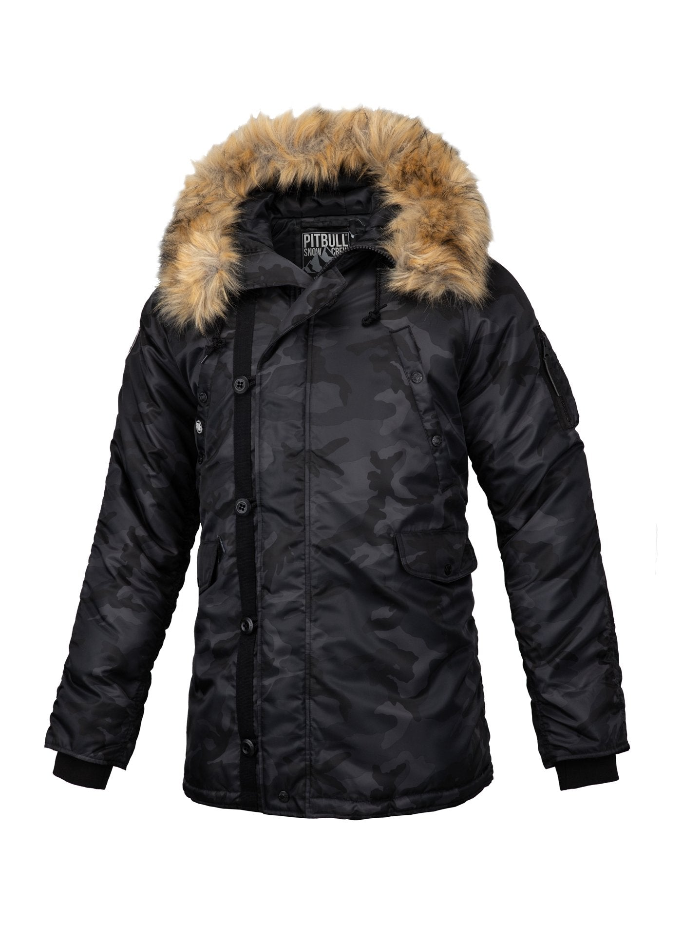 JACKET ALDER BLACK CAMO - pitbullwestcoast