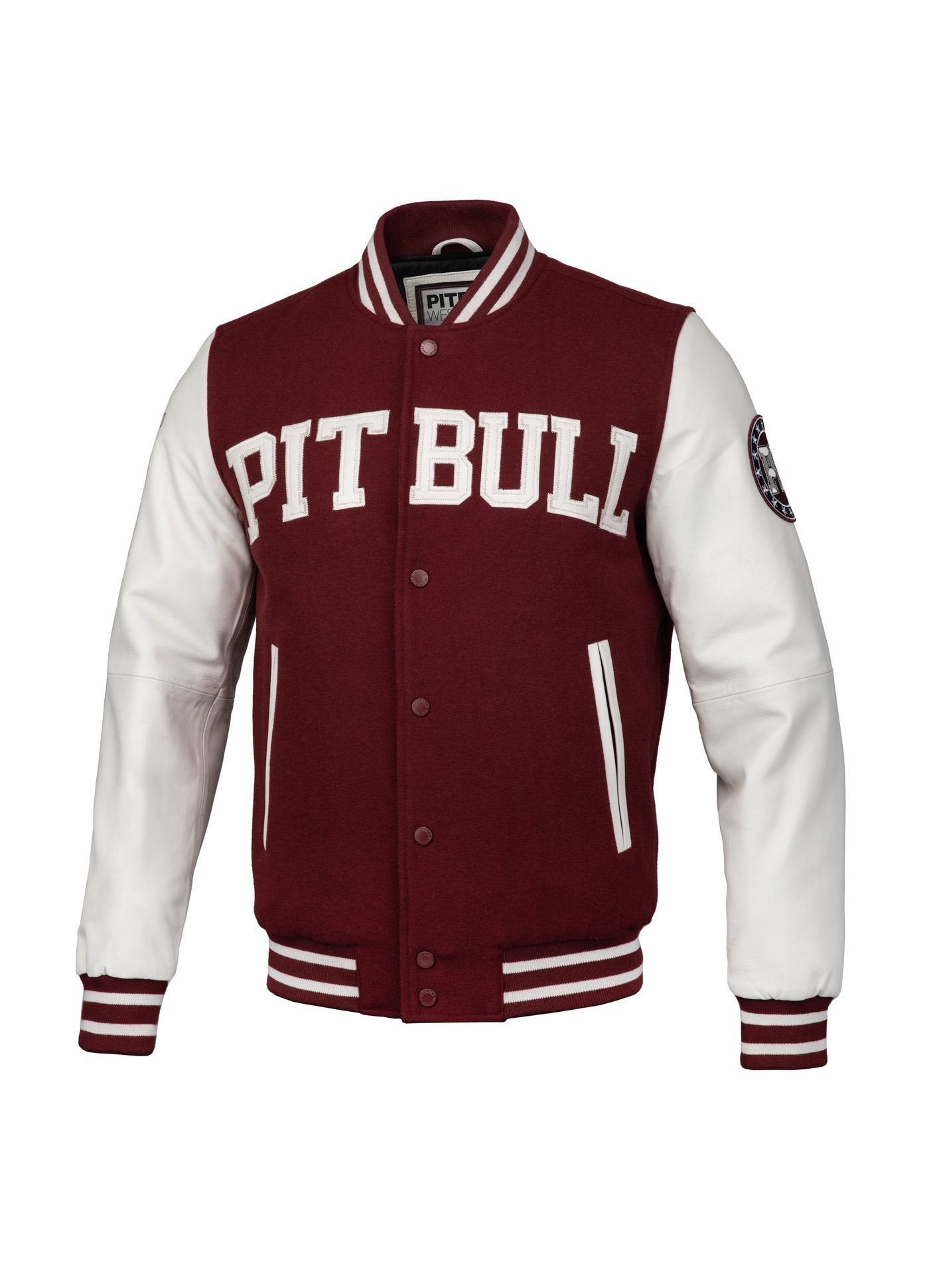 JACKET MELTON WILSON BURGUNDY - pitbullwestcoast