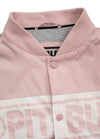 Women Hooded Baseball Jacket SOLANA Pink - pitbullwestcoast