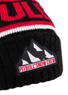 Winter Beanie FLEMING Black/Red