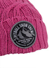 """SNOW CREW"" Winter Beanie Pink"