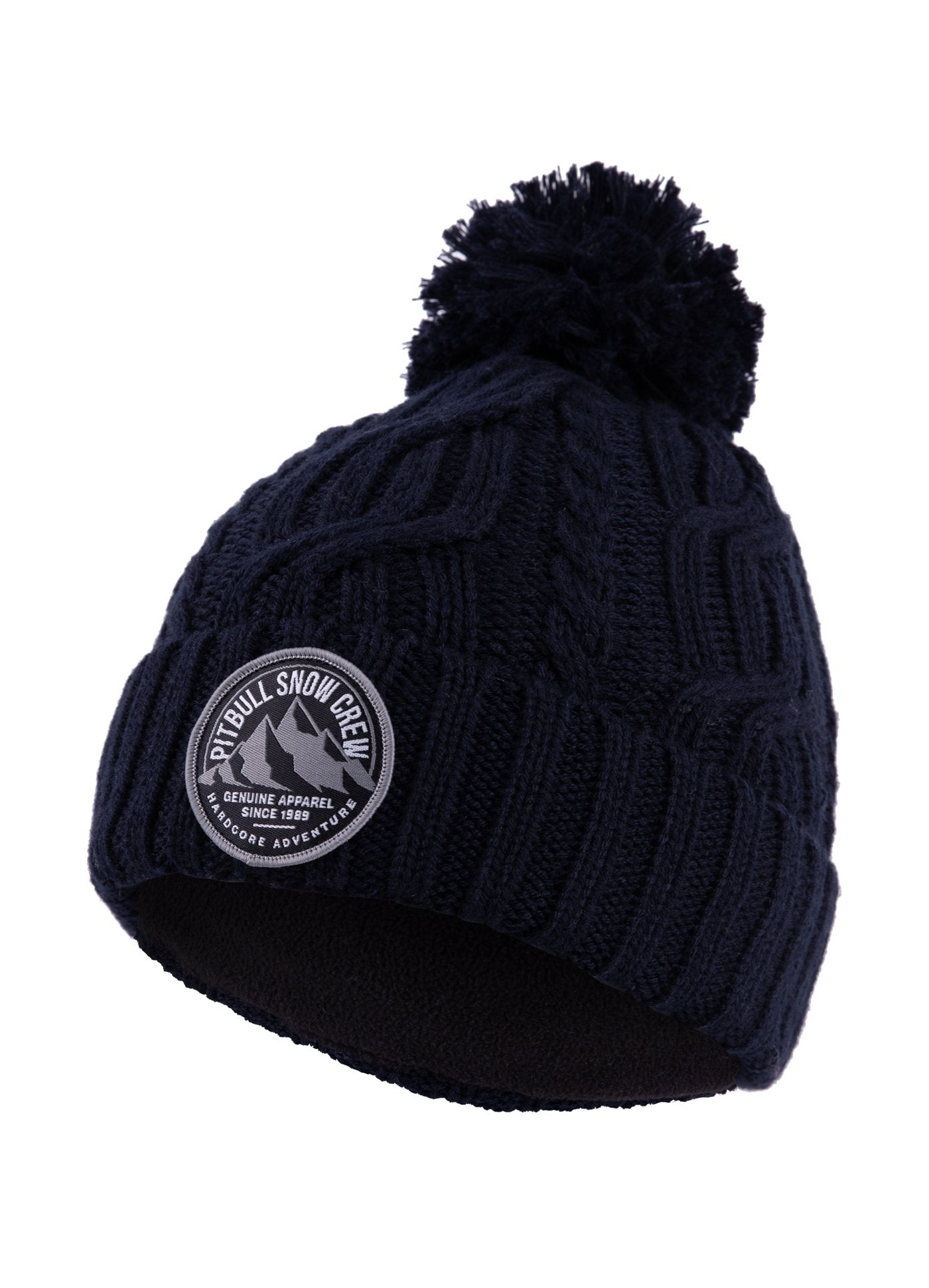 """SNOW CREW"" Winter Beanie Dark Navy - Pitbull West Coast  UK Store"