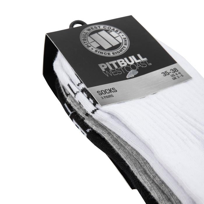 High Ankle Socks TNT 3pack White/Grey/Black