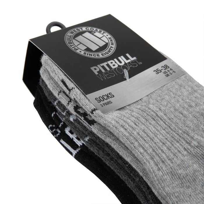 Socks Crew TNT 3pack Black/Grey/Charcoal