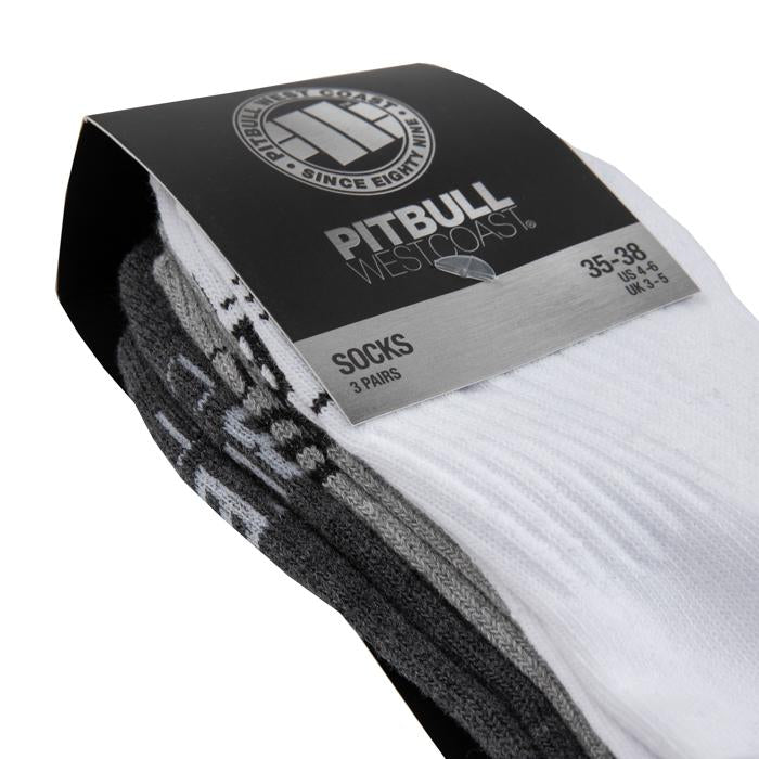 Socks Crew TNT 3pack White/Grey/Charcoal