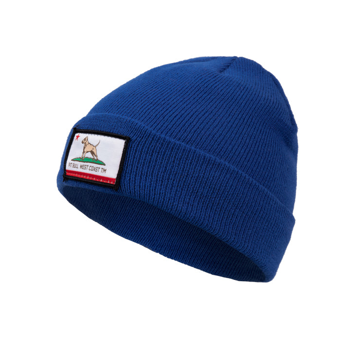 CALIFORNIA DOG Beanie Blue - pitbullwestcoast