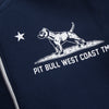 Hooded Sweatjacket CAL FLAG Dark Navy - pitbullwestcoast