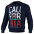 California Flag Crewneck Sweatshirt Dark Navy