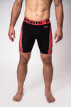 Compression shorts PRO PLUS MLG Red - pitbullwestcoast