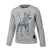 Women BLUE EYED DEVIL Crewneck Grey - pitbullwestcoast
