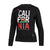 Women CAL FLAG Crewneck Black - pitbullwestcoast