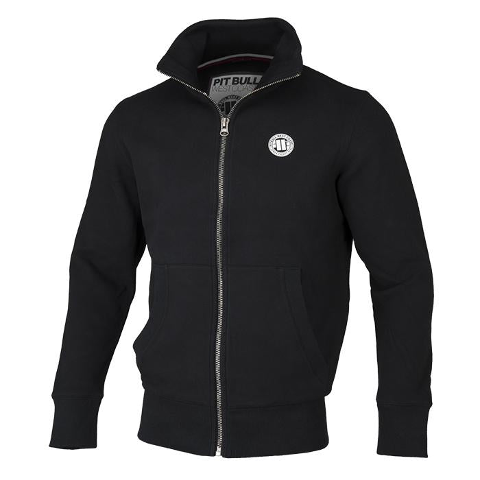 FULL ZIP SMALL LOGO BLACK - pitbullwestcoast