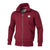 FULL ZIP SMALL LOGO BURGUNDY - pitbullwestcoast