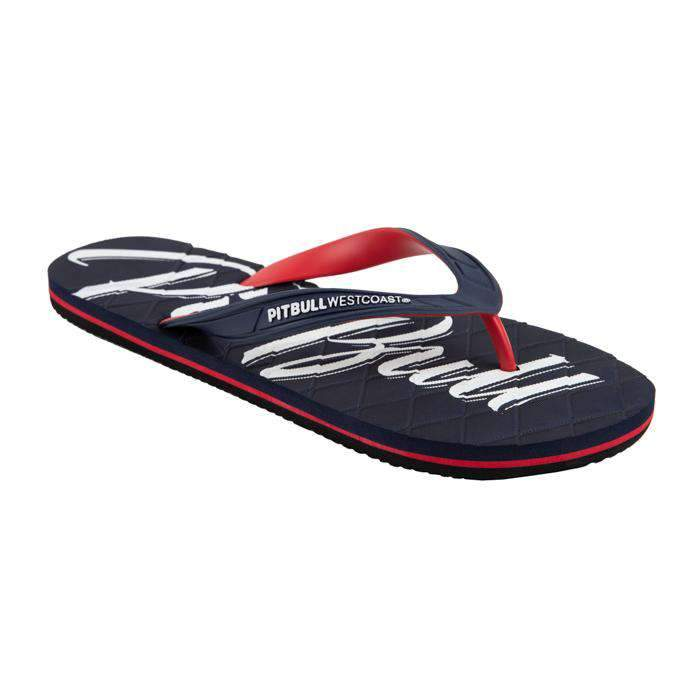 Flip Flops EL JEFE Dark Navy/Red - pitbullwestcoast