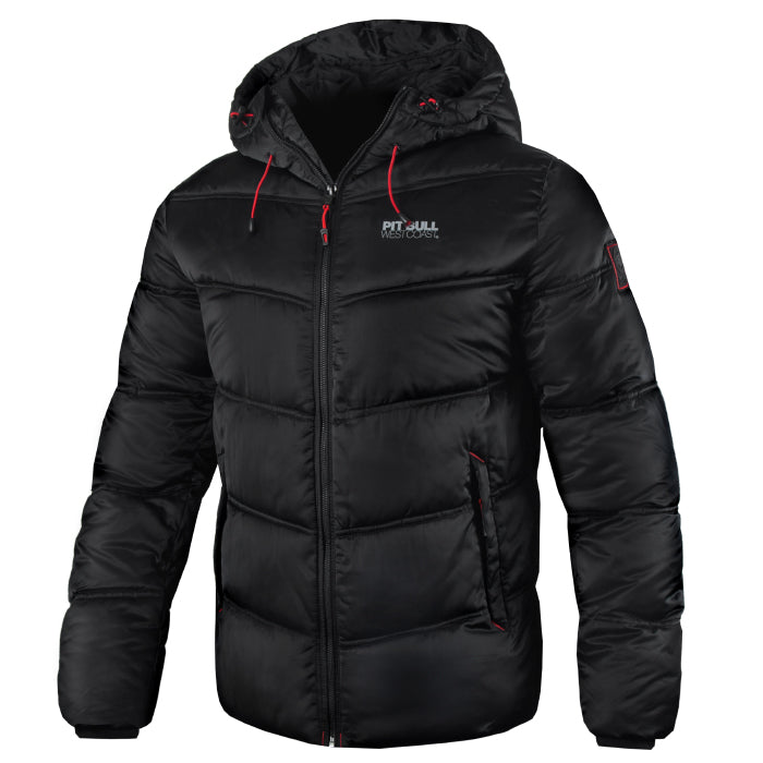 GATLIN Quilted Hooded Jacket Black