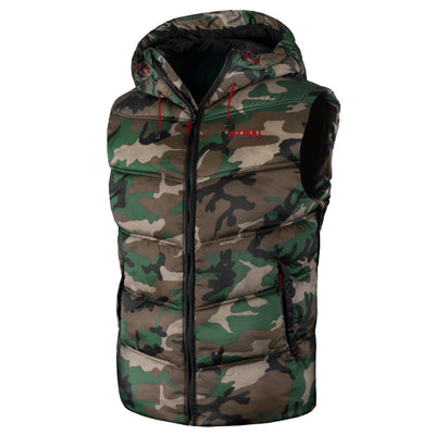 """Gatlin""  Winter Hooded Vest"