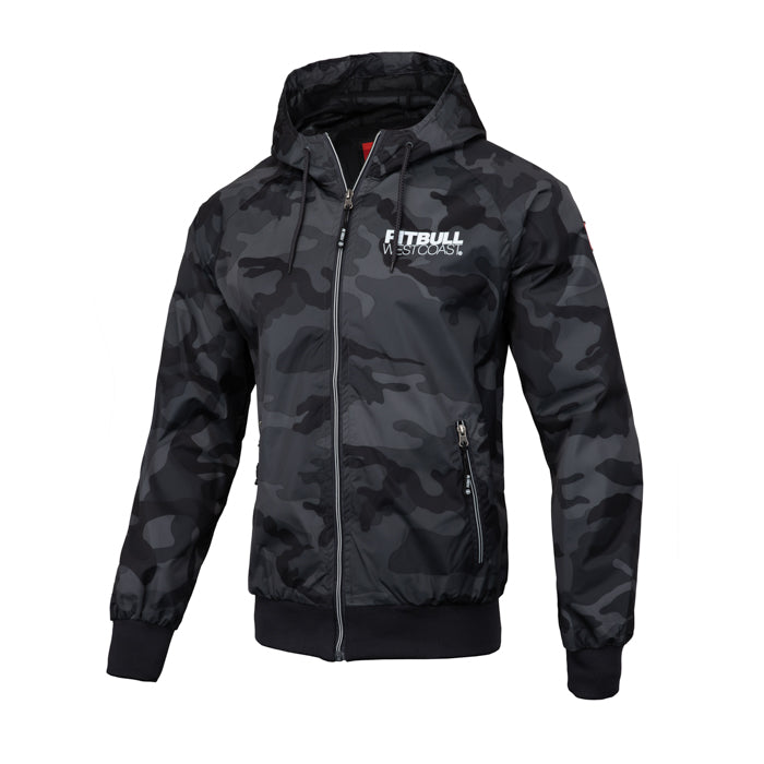 Hooded Nylon Jacket Athletic IX Black Camo - pitbullwestcoast