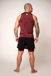 TANK TOP COMPRESSION PRO PLUS MLG Burgundy - pitbullwestcoast