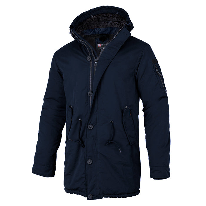 Men's Parka Jacket HEMLOCK 2 Dark Navy - pitbullwestcoast