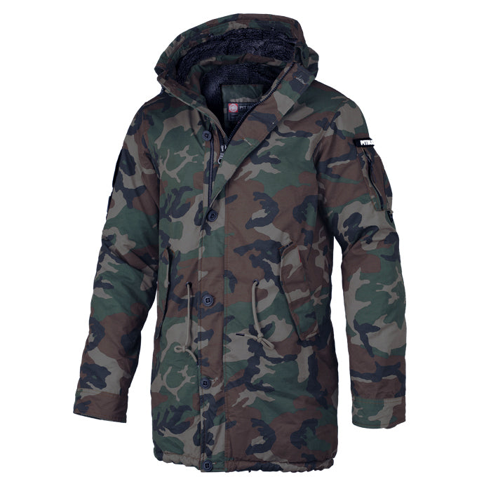 Men's Parka Jacket HEMLOCK 2 Woodland Camo - pitbullwestcoast